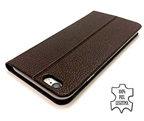 Amazon.com: Hailoa - Funda de piel fabricada a mano iphone 6 color marrón: Cell Phones & Accessories