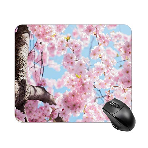 Atunme Mouse Pad Low Angle Photo of Cherry Blossoms Tree Mousepad Non-Slip Rubber Gaming Mouse Pad Rectangle Mouse Pads for Computers Laptop]()