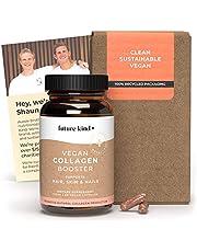 Vegan Collagen Booster - Future Kind Vegan Collagen Capsules Booster with Vegan Collagen Powder - Collagen Vegan Builder with Silica, Biotin Grape Seed Extract - 60 Capsules