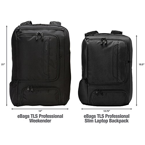 eBags Professional Slim Laptop Backpack (Solid Black) by eBags (Image #5)