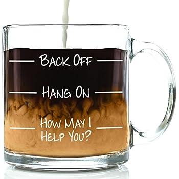 Back Off Funny Glass Coffee Mug