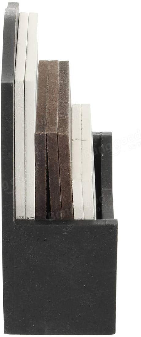 Tools; Industrial/& Scientific Hardware /& Accessories - White Vintage Wood Block Perpetual Desktop Calendar Rustic Wooden Office Home Desk Decor - 1 x Wooden Block Calendar