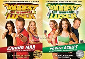 The Biggest Loser Workout Cardio Max & Power Sculpt 2 Disk DVD Video Set