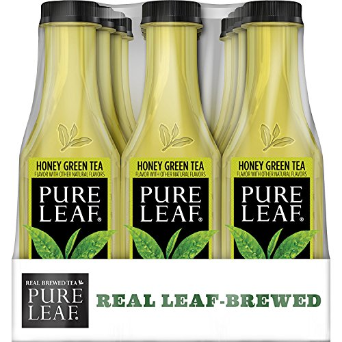 Green Honey Tea Sweet (Pure Leaf Iced Tea, Not Too Sweet, Real Brewed Honey Green Tea, 0 Calories, 18.5 Ounce (Pack of 12))