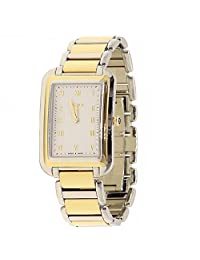 Fendi Men's F701114000 Classico Rect Analog Display Swiss Quartz Silver Watch