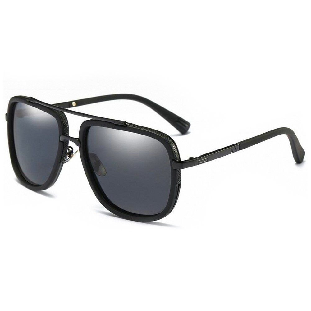 WELUK Oversized Square Mens aviator sunglasses Polarized for Driving Fishing