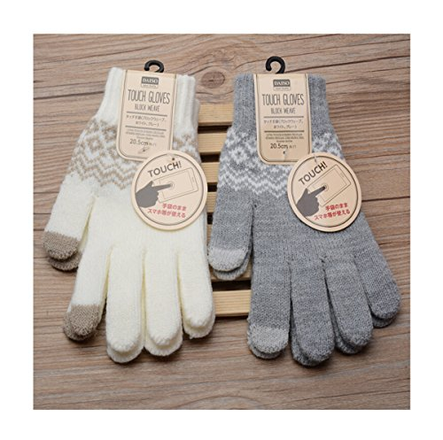 Touch Screen Gloves Women Girl Stretch Knit Mittens Winter Warm Gloves