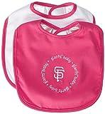 MLB San Francisco Giants Baby Fanatic Pink Baby Bib (2-Pack)