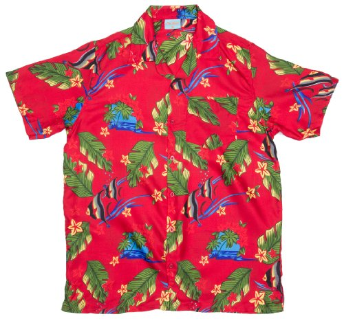 ragstock-mens-angel-fish-ocean-print-hawaiian-aloha-shirt-red-x-large