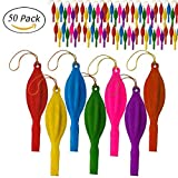 50 Pcs Punch Balloons with Rubber Band Handles Assorted Colors