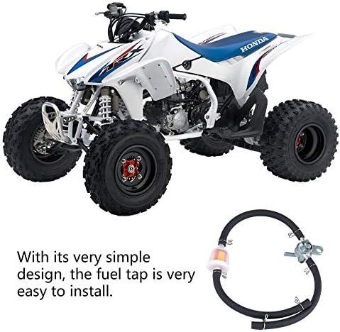 Schlauch f/ür Pit Dirt Bike ATV Motorrad SUV Filter Peanutaod Inline Kraftstofftankhahn Benzinhahn