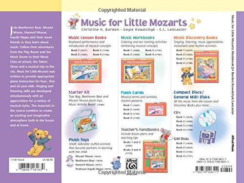 Music for Little Mozarts Music Workbook, Bk 4: Coloring and Ear ...