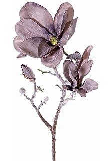 7 Blüten 45cm real touch rot-schwarz Phalaenopsis Zweig JASMIN Kunstzweig