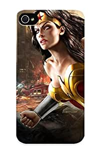 Catenaryoi Sanp On Case Cover Protector For Iphone 4/4s (wonder Woman) For Christmas Day's Gift