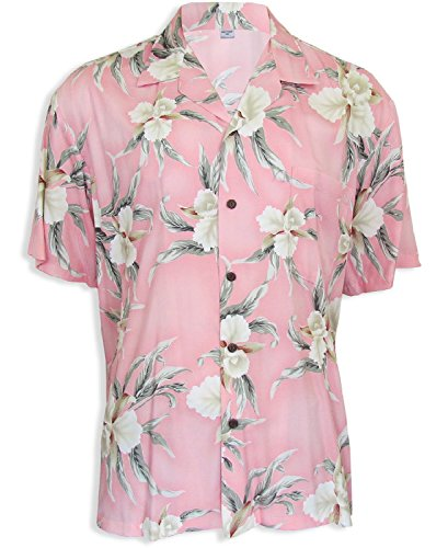 Two Palms Mens Retro Orchid Shirt Pink 4X by Two Palms