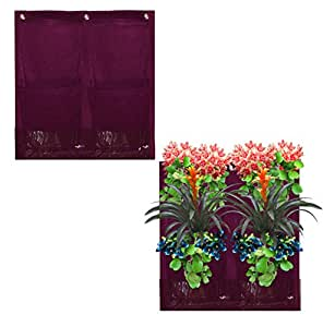 4 Pocket Vertical Garden Planter By Invigorated Living, Waterproof Garden Pots for Indoor & Outdoor Use on Patios, Balconies & Apartments, Easy to Hang & Fill with Flowers, Herbs & Vegetables