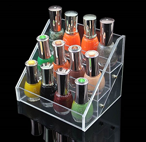 Adorable 3 Tier (1 Pc Alluring Popular Nail Polish Organizer Cube Gift Acrylic Fashion Tool Racks Color Transparent 3 Tier Style #01)