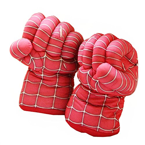 XCOSER Super Hero Plush Boxing Gloves Toys for Halloween Gift Spider (Halloween Boxing Gloves)