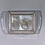 Sea Shell, Stained Glass Jewelry Box, Presentation Box, Keepsake Box, Glass Jewels, Swarovski Crystals, USA Made