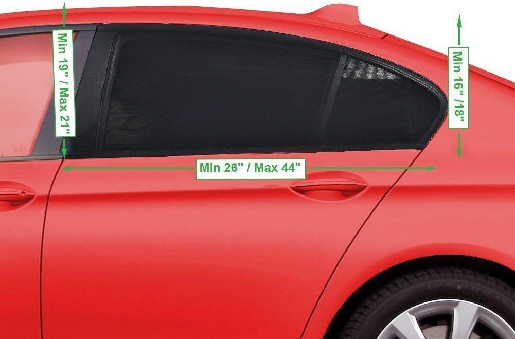 Pack de 2 unidades Parasol de coche ventana lateral trasera Doble tejido