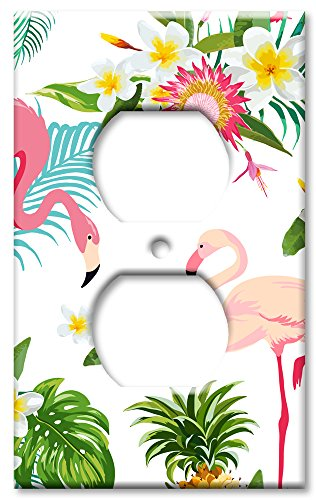Art Plates Brand Electrical Outlet Wall/OVERSIZE Switch Plate - Flamingos