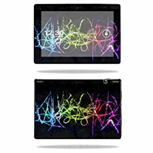 Mightyskins Protective Skin Decal Cover for Lenovo IdeaTab S6000 10.1-Inch Tablet wrap sticker skins Neon