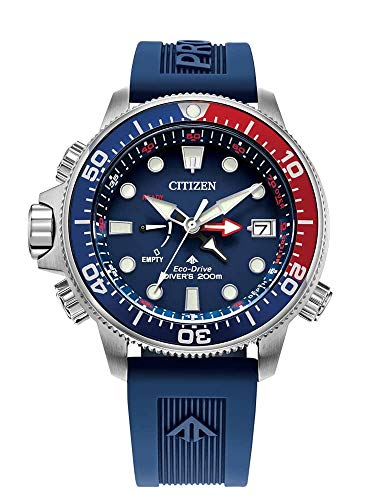 Citizen Watches Men's BN2038-01L Aqualand Blue One Size (Eco Drive Professional Diver Watch)