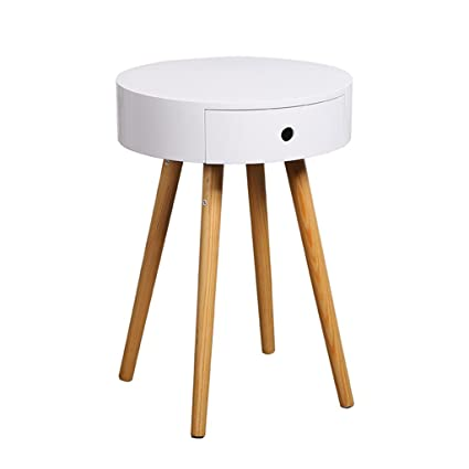 Amazon.com: cabinets Bedroom solid wood legs bedside table ...