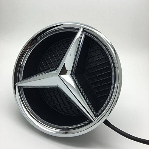 Cszlove car front grilled star emblem led illuminated logo for Mercedes benz insignia