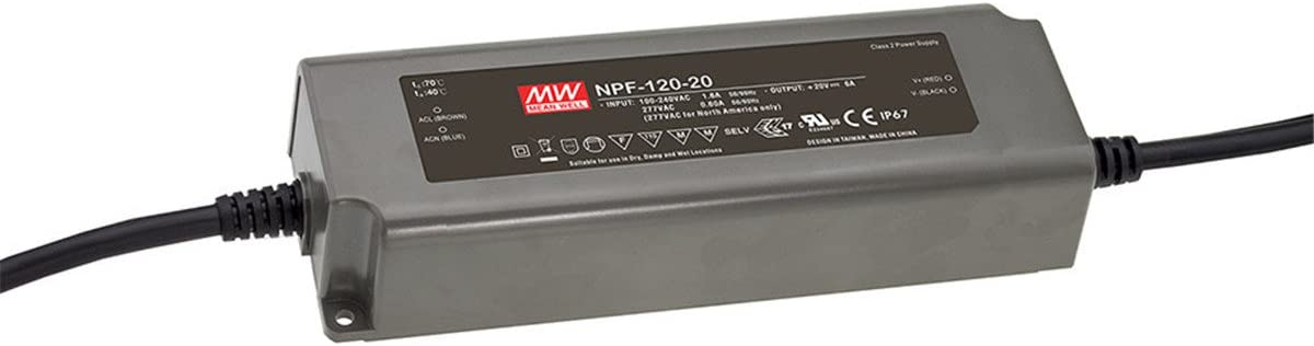 Meanwell NPF-120D-12 120W LED Power Supply 12V 10A IP67 Waterproof Dimmable 856717