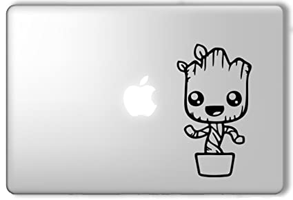 Cute groot in a pot guardians of the galaxy marvel superhero apple macbook laptop vinyl