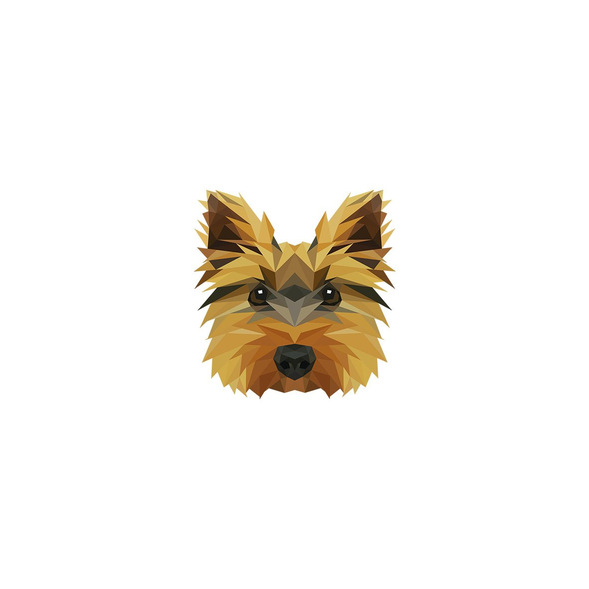 Geometric Collection of Necklaces with Image of a Dog Yorkshire Terrier