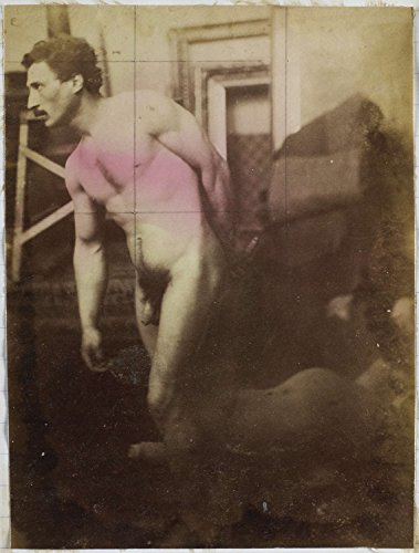 """Classic Art Poster - Study of a male nude model in the studio of sculptor / painter Jacques de Lalaing, in quadrature, Jacques Lalaing, c. 188 18.5"""" x 24"""""""