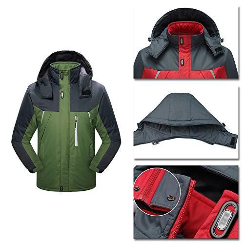 Giacca 1 Xfentech Verde In Invernale Cappuccio Softshell 3 Resistente Da All'acqua UomoImpermeabile Con jL5Aq3Rc4S