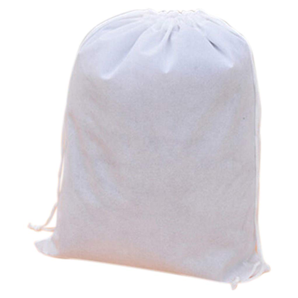 yingyue Portable Multi-Use Drawstring Shoes Storage Bag Travel Business Accessories White