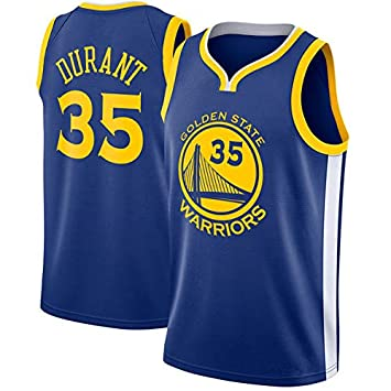 BeKing NBA Kevin Durant Camiseta de Jugador de Baloncesto - NO.35 Golden State Warriors Swingman Jersey Bordado Camiseta de Fan para Hombres
