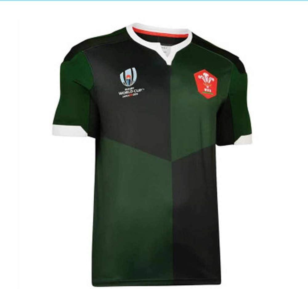 Camiseta De Rugby, Traje De Entrenamiento De Camiseta De Fanático De La Copa Mundial De Gales para Hombres S-XXXL: Amazon.es: Deportes y aire libre
