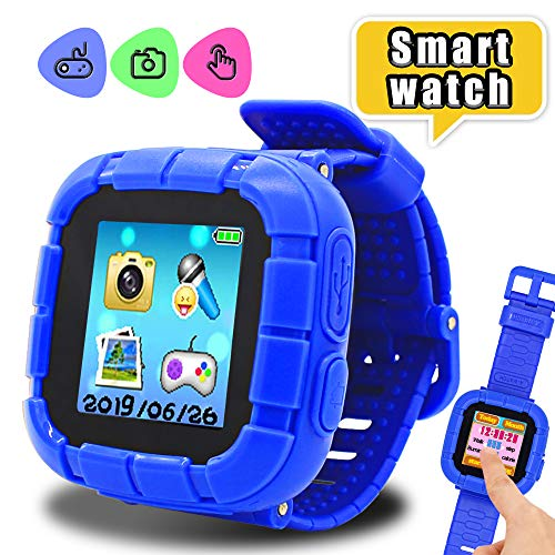 Toys for 3-8 Year Old Boys Yehtta Smart Watch for Kids Smartwatch Touchscreen Kids Watches Girls Birthday Gifts Electronic Toys for Kids VTech Kidizoom Christmas Birthday Gifts Blue