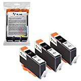 K-Ink Compatible Black Ink Replacement Cartridges for 564XL 564 XL (3 Big Black)