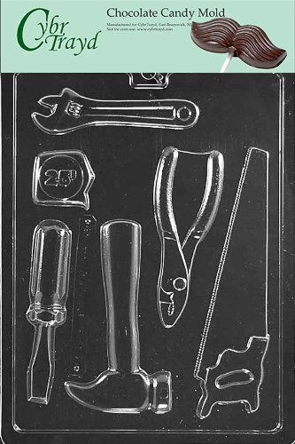 Cybrtrayd Life of the Party D102 Tools Hammer Saw Pliars Screwdriver Chocolate Candy Mold in Sealed Protective Poly Bag Imprinted with Copyrighted Cybrtrayd Molding Instructions