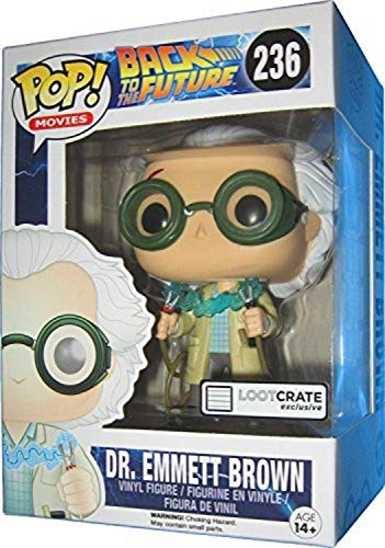 FunKo Pop LC Exclusive 0849803064778 Figura del Dr Emmett Brown de Regreso al futuro, 10 cm