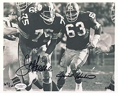 Joe Greene & Ernie Holmes Autographed Signed 8x10 Photo Numbered To 100 Memorabilia - JSA Authentic - Greene Autographed Photo