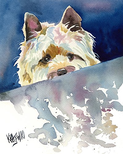Dog Art Terrier Cairn (Cairn Terrier Dog Fine Art Print on 100% Cotton Watercolor Paper)