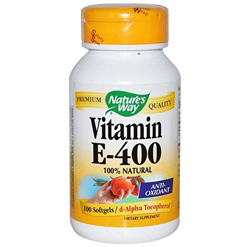 Nature's Way - Vitamin E 400 IU 100 gels (Pack of 3) ()