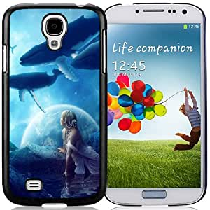 Beautiful Custom Designed Samsung Galaxy S4 I9500 i337 M919 i545 r970 l720 Phone Case For Whales Dream Phone Case Cover