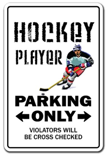 Hockey Player Aluminum Sign NHL Street Field Stick Puck Fan | Indoor/Outdoor | 24
