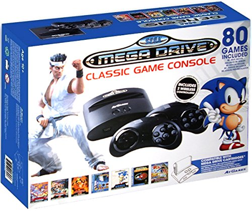 Sega Mega Drive – Consola Retro Wireless + 80 Juegos + Virtua Fighter 2 – Edición Sonic
