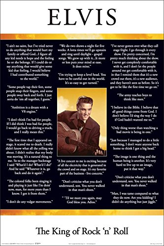 In Their Words Elvis Presley Quotes Inspirational Music Cele