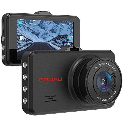 COOAU Dash Cam 1080P Full HD Night Visio