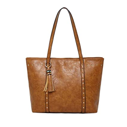 1ce96cc3f501 Amazon.com: GMYANDJB Autumn Tassel Leather Handbags Luxury Designer ...